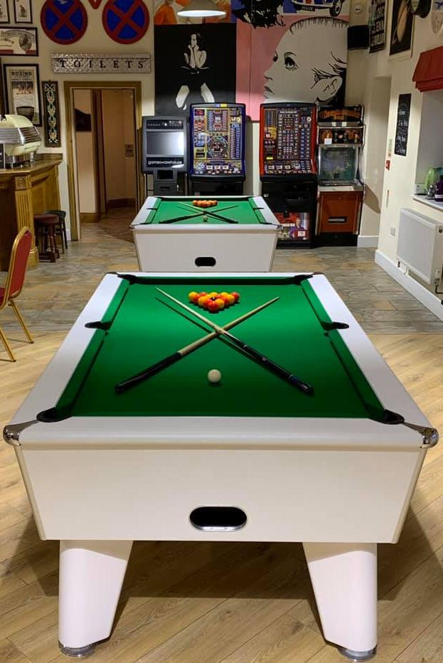 Installed Blackball Tables in White