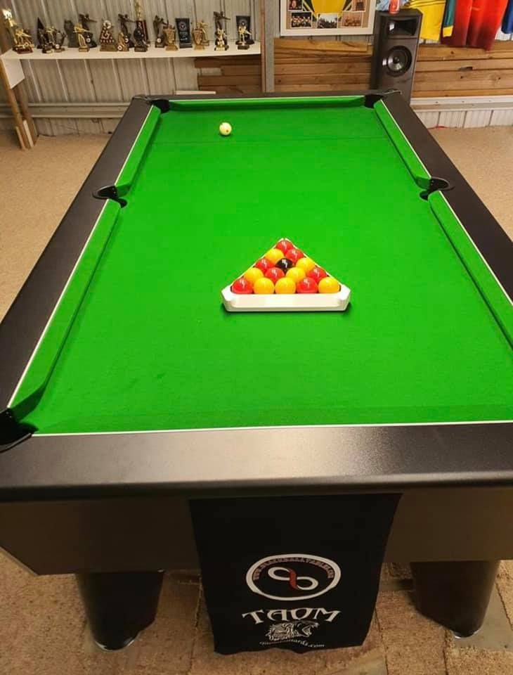 Blackball Tables black decor assembled